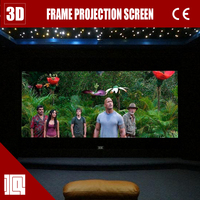 4k projector cinema screen price for black diamond fixed frame screen