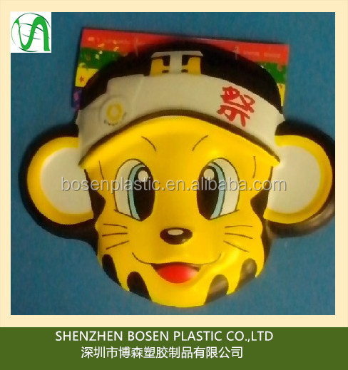 Custom vacuum formed plastic mask for decoration