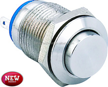 New 12mm 12V on and off 1NO1NC mini metal push button switch(IP65)