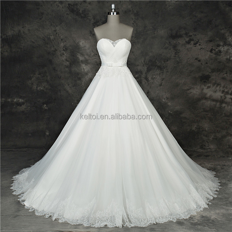 2017 big size ivory color simple wedding bridal gowns dress.
