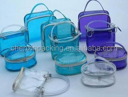 Plastic PVC cosmetic package bag