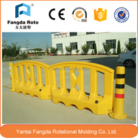 rotomolding plastic traffic barrier and mould