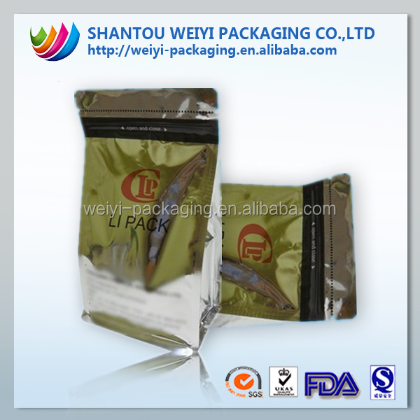 high barrier nylon film/inflatable bag packaging/self heating food pouch bag