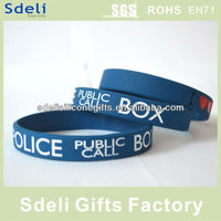 free sample low relief ink filled adult size silicone wristbands /silicone rubber bracelet
