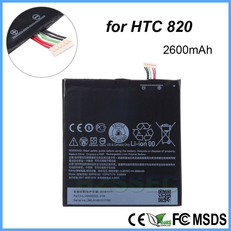 Replacement Rechargeable Handset 3.8V 2600 mAh BOPF6100 Battery for HTC Desire 820 D820u 820Q D820t