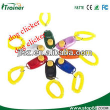 effective plastic dog training clicker with ring