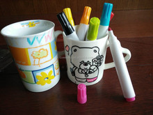 DIY Drawing ceramic marker pens for kids