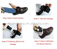 Foot Warmer Thermo Insoles of Remote Li-battery Powered with USB Cable