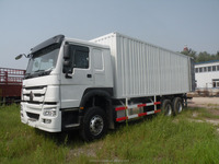 SINOTRUK Howo 336hp 6*4 25ton Cargo Box Truck 25000KG Van Delivery Truck