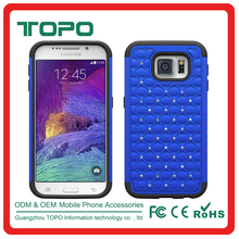 [TOPO] New design bling starry sky stars pc silicon shockproof rubber phone case for Samsung galaxy S6 s6