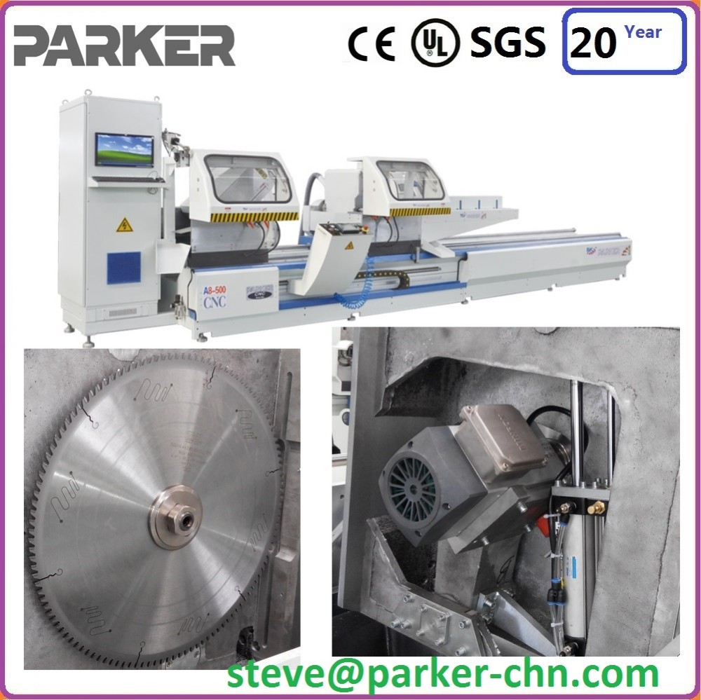 double mitre saw for aluminum upvc profile ce certificated parker brand