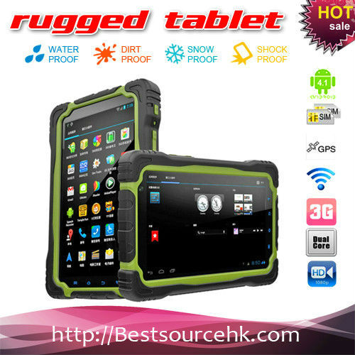 New IP67 super deal military 7inch M76 waterproof dustproof shockproof Android 4.1 Dualcore Rugged 3G tablet PC