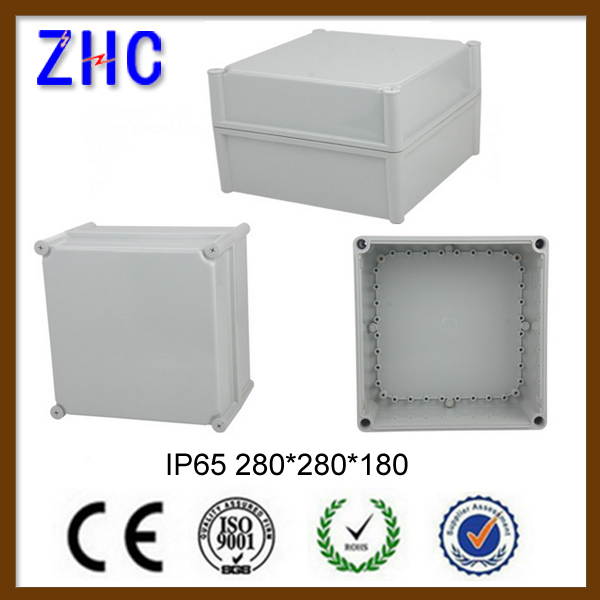 340*280*180 Hinged Plastic Outlet Distribution Junction Cable Gland Electrical Floor Enclosure box