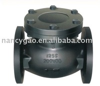 cast iron flanged ends swing check valve