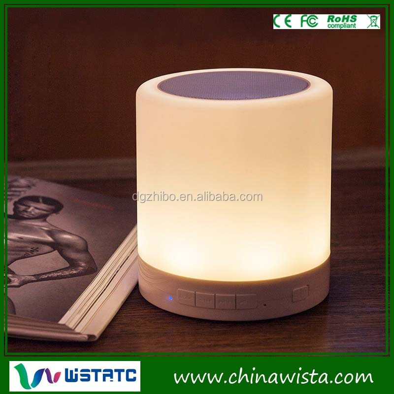 2016 Cordless led touch Lamp bluetooth speaker with TF card expansion