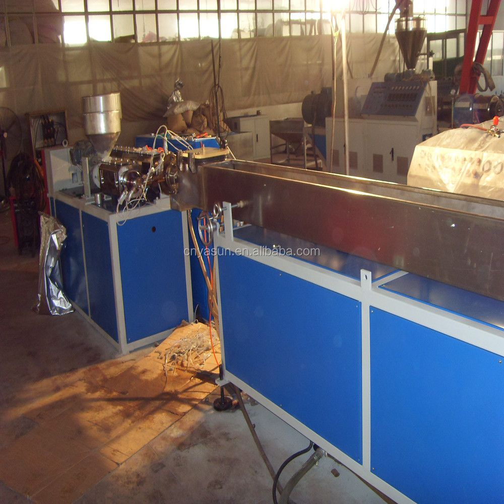 Three Colors Drinking Straw Plastic Extruder Machinery/PP PE Straw Production Line