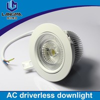 Langma driverless dimmable 10W led downlight recessed lighting for bedroom sets lighting decoration LED