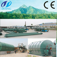 sell best 2012 waste tire shredder recycling line for crude oil pyrolysis plant