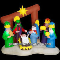 Christmas birth of Jesus inflatable nativity