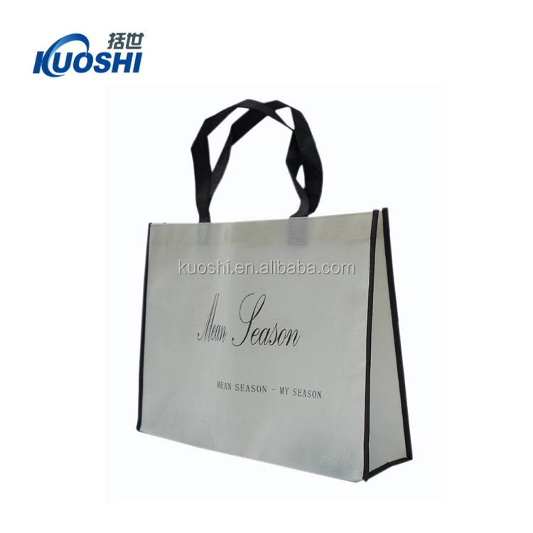 Customised reusable cheap non-woven shopping bags