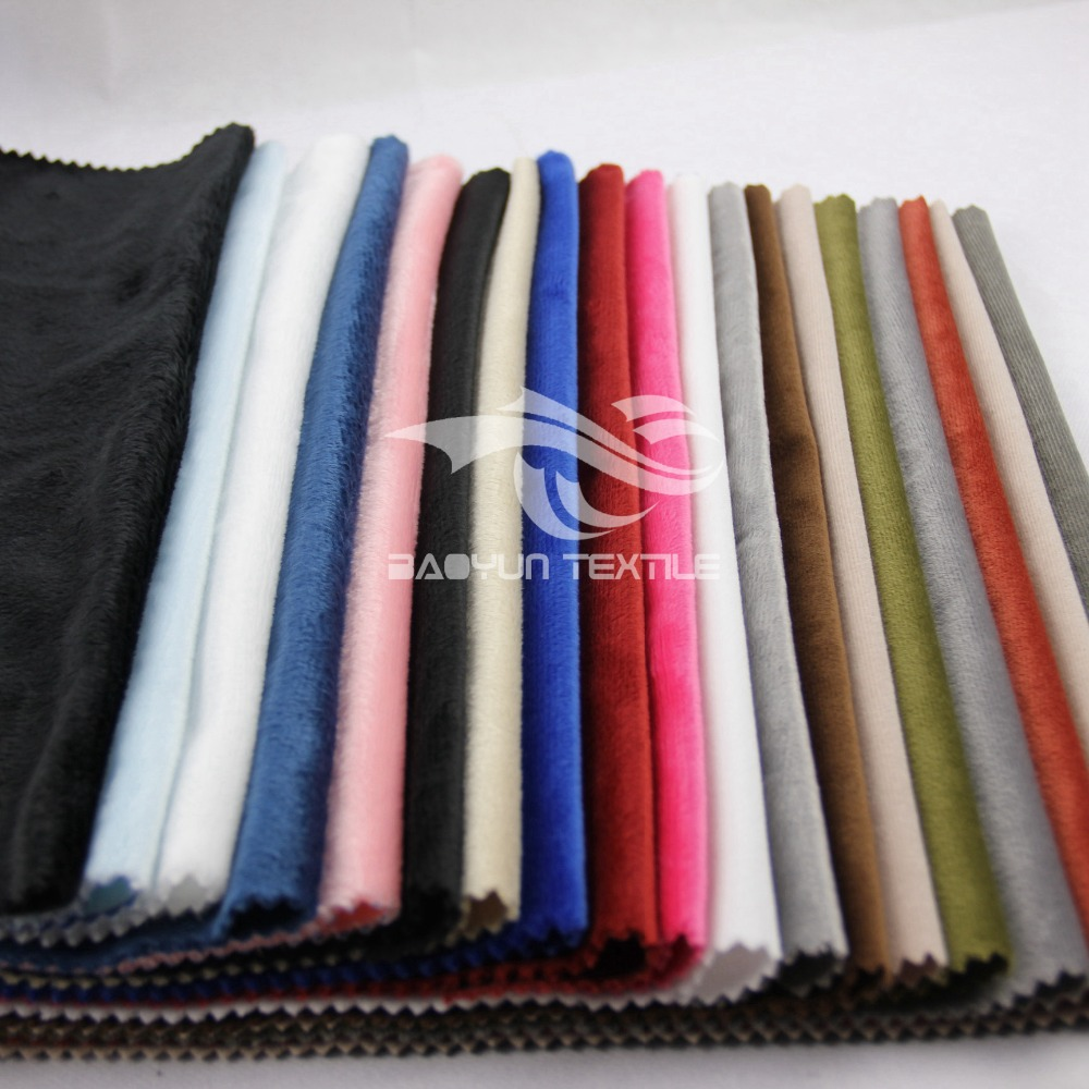 100%polyester Super soft velvet fabric