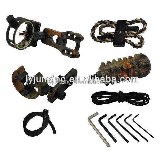 Camo color China bow sight with archery accessories