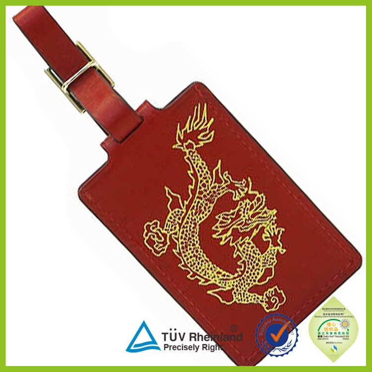 custom travel luggage leather tag for promotion