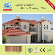 Color stone coated metal roof tile for villa/estate
