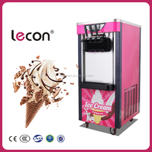 Lecon Supplier Price 16 Shift Hardness and Softness Soft Ice Cream Machine with With Alarm Function