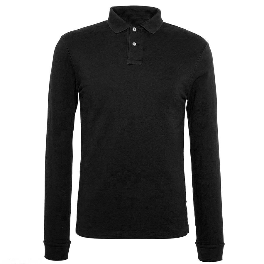 professional high quality long sleeve polyester men polo shirt