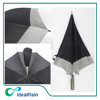 30 inch black golf umbrella with reflective stripe,high quality big umbrella