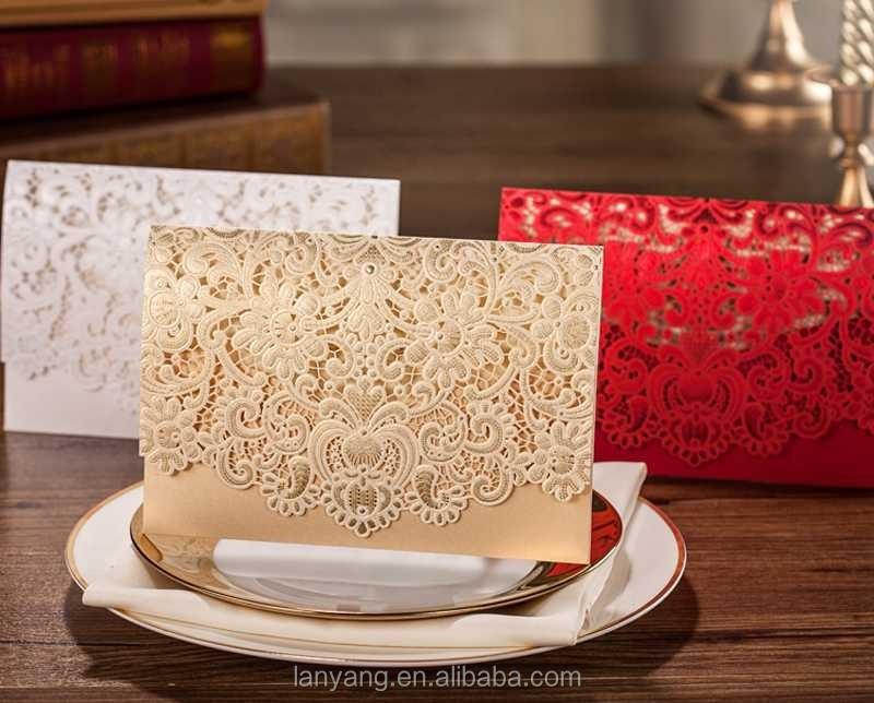 Wishmade Wedding Invitation Card Laser Cut Card Free Printing Cw072 ...