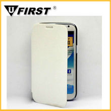 Hot sell plain PU leather case for samsung galaxy note 2