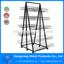 floor stand metal wire CD rack stand