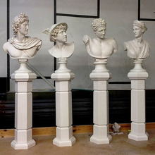 Hot sale western hand carved marble stone busts for sale