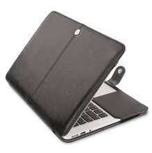 "Fashion Laptop PU Leather Bag Case Cover For Macbook Pro Air Retina Notebook Sleeve Bag 11"" 13"" 15"""