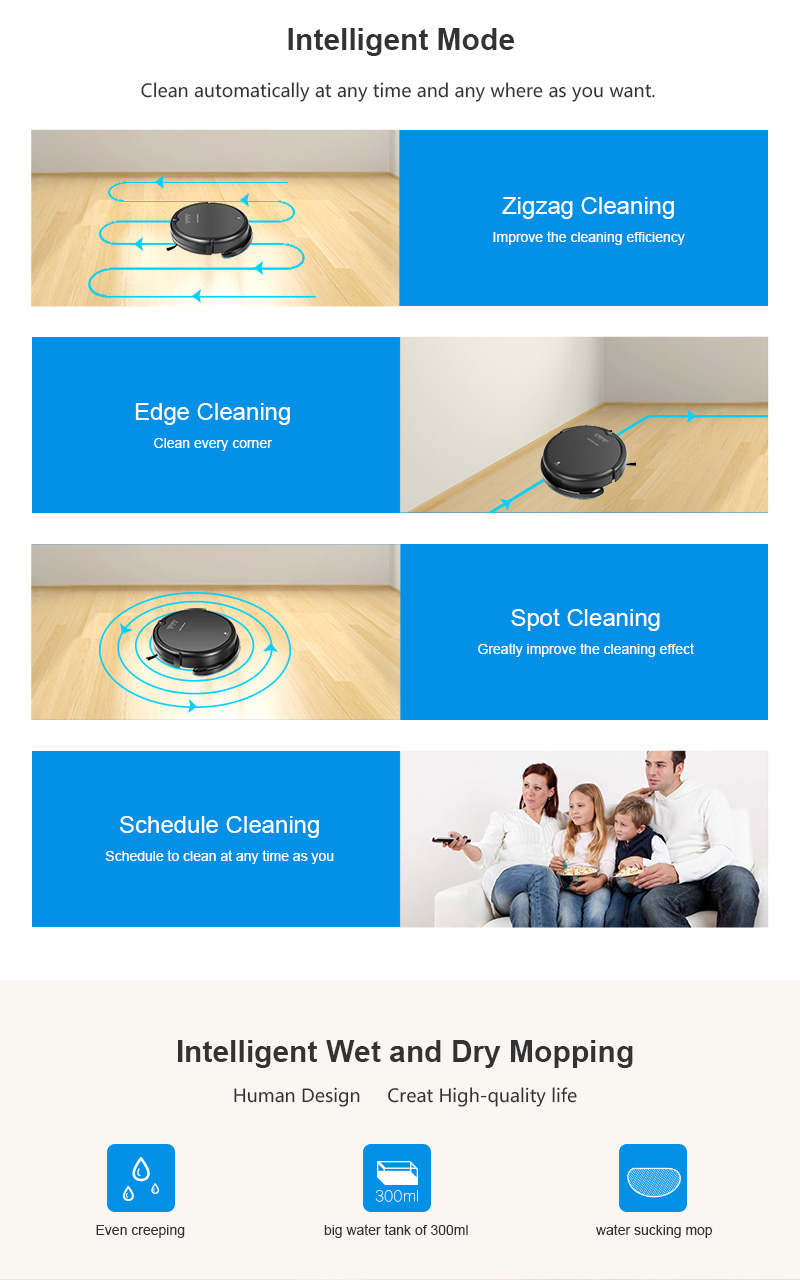 Gyroscope Navigation Wet and Dry Auto Vacuum Cleaner Q7000
