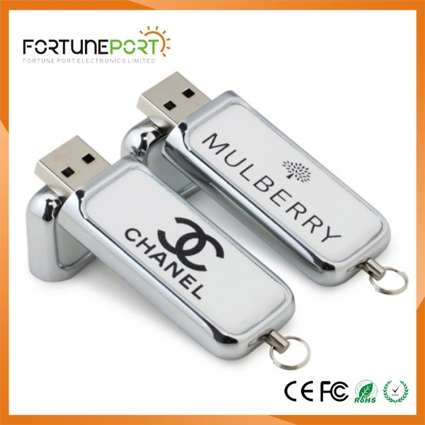 Custom Logo Free Sample Xmas Gift High Class Leather USB Pen Drives USB 4gb/8gb Pen Drive 2.0