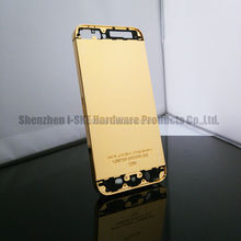 for iphone 5s 24k gold plating back cover , for iphone 5 gold body