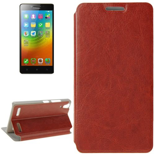 Crazy Horse Texture Ultrathin Flip Leather Case for Lenovo Lemon K3 Case, for Lenovo Lemon K30 Cover