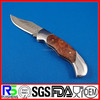 High Quality Folding Blade burl wood Handle Damascus blade knife