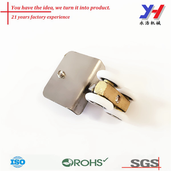 Precision casting steel pulley wheel/shower door assembly part