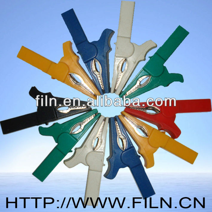 55mm 6 colors complete insulated mini alligator clips