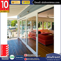 strong and durable security mesh aluminium workshop sliding door
