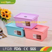 Wholesale Colorful Stackable heavy-duty plastic storage box with wheels