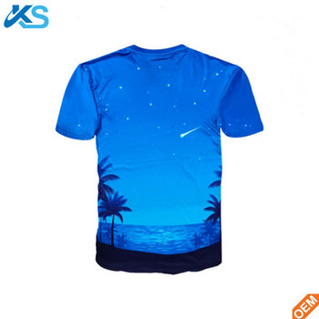 Men's Short Sleeve O neck Cotton blend 3d Sublimation Printed Tshirt Slim Fit t-shirt tee tops