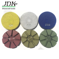 High Quality 3 Inch Diamond Resin Wet Polishing Pads For Concrete Floor