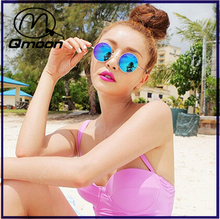 New round sunglasses retro sunglasses polarized sunglasses color film Prince mirror whole
