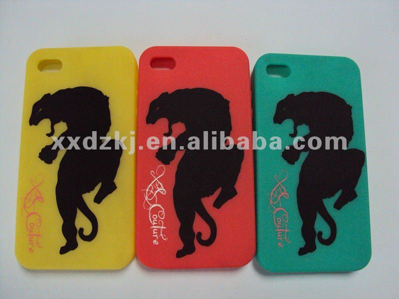 Very Beautiful CMYK Logo Printing Silicone Case for Apple iPhone4S