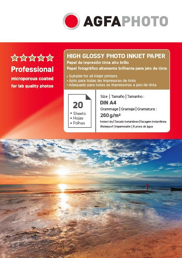 AGFAPHOTO260g high glossy photo inkjet paper for inkjet printer
